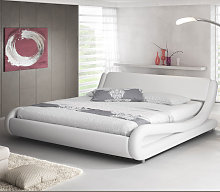 Lit double Alessia – blanc 135x190cm