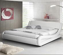 Lit double Alessia – blanc 180x200cm
