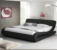 Lit double Alessia – noir 135x190cm