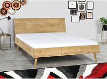 Lit double design en bois dimension 140 x 200,
