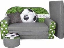 Lit enfant-Canapé pouf + coussin-Sofa
