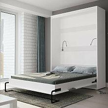 Lit escamotable vertical 160x200 blanc , Gamme