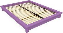 Lit futon 2 places bois massif Solido 140x190 Lilas