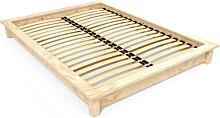 Lit futon 2 places bois massif Solido 160x200