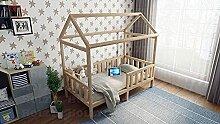 Lit Maison en Bois, lit bébé, avec barrières,