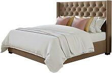 Lit MASSIMO tête de lit capitonnée - 160x200cm -