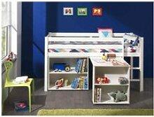Lit mezzanine 90x200 blanc   bureau