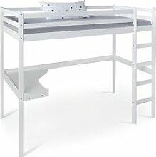 Lit mezzanine avec bureau pour enfant 90x200 cm