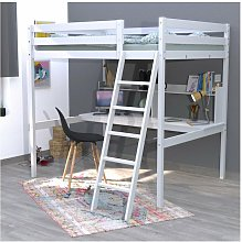 Lit mezzanine STUDIO 140x190 + 1 sommier + bureau