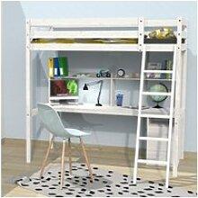 Lit mezzanine studio 140x190 + 1 sommier + caisson