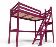 Lit mezzanine sylvia avec escalier de meunier bois