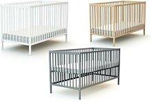 Lit pour bébé : 60 x 120 cm / Vernis transparent