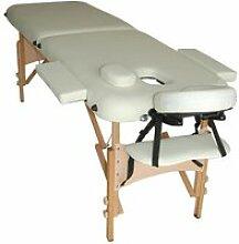 Lit/table de massage cosmetique pliable en bois 2