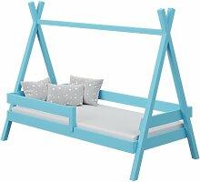 Lit Tipi+ pour enfant - Bleu - 80 cm x 160 cm