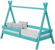 Lit Tipi+ pour enfant - Turquoise - 80 cm x 160 cm