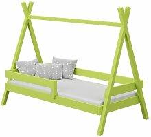 Lit Tipi+ pour enfant - Vert - 80 cm x 160 cm