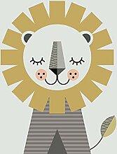 Little Design Haus (Lion) 30 x 40cm Impression sur
