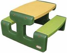 Little tikes table large de pique-nique vert 402843