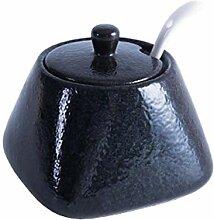 litulituhallo Pot à épices vintage en céramique