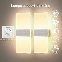 Litzee - 2*12W Applique Murale Interieur LED Lampe