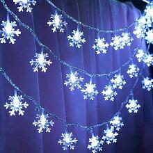 LITZEE Guirlande lumineuse flocon de neige 6 m 40