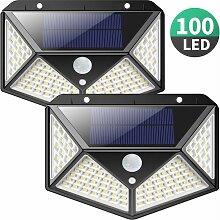 LITZEE Lampe Solaire Extérieur 100 LED 2200 mAh