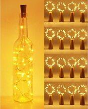 LITZEE LED Bouteille Guirlande, 2m 20 LED Pour