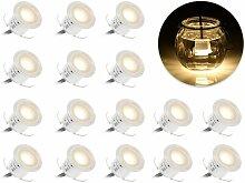 LITZEE Lot de 16 kits d'éclairage LED