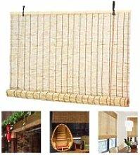 LIUU Stores Bateau à Baguettes Bambou Rideau en