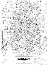 LIUXR Bangkok, thaïlande Carte du Monde Ville