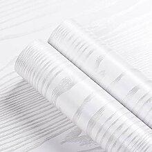Livelynine Papier Peint Adhésif avec Grain Blanc