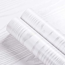Livelynine Papier Peint Bois Blanc de 40CM*10M