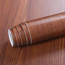 Livelynine Papier Peint Bois Brun Papier Adhésif