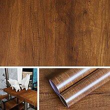 Livelynine Papier Peint Bois Marron de 40CM*10M