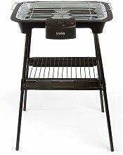 Livoo Barbecue electrique sur pieds en Métal Noir