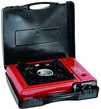 LIVOO DOC178 Réchaud gaz portable, Rouge/Noir