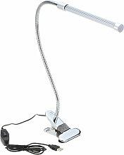 Lixada bureau LED Clamp USB Lampe de table