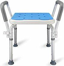 LIYONG Chaise De Bain Portable Aluminium Carré