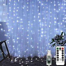 LiyuanQ Guirlande Lumineuse de Rideau 300 LED