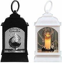 Lizefang Lanterne à Bougie LED Ramadan,Bougie