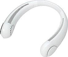 LJJ Ventilateur Portable Cou, USB Ventilateur