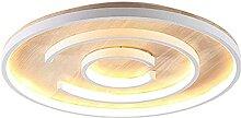 LJMYQL Led Wood Art Plafond Plafonnier Chaud Lampe