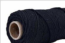 LLAAIT 4mmx100m 100% Coton Cordon coloré Corde