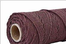 LLAAIT 4mmx100m 100% Coton Cordon coloré Cordon