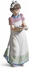 LLADRÓ Figurine de Fillette avec gâteau
