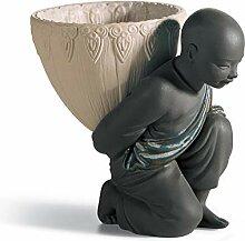 LLADRÓ Figurine Porteur Pot. pourri arrière. Noir