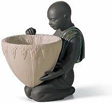 LLADRÓ Figurine Porteur Pot. pourri Avant. Noir