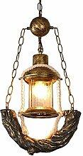 LLLKKK Suspension rétro en forme de lanterne -