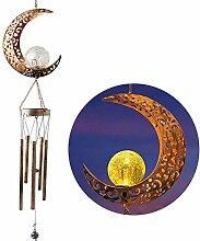 LLLS Carillon solaire avec soleil, lune, étoile