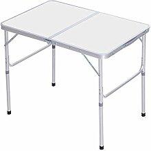 LLPEIJIE026 Table Pliante, Réglable en Hauteur